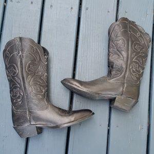 Ariat Sz 8.5 black heritage R Toe cowboy boots